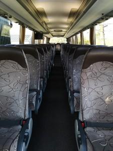 57 seat coach interior